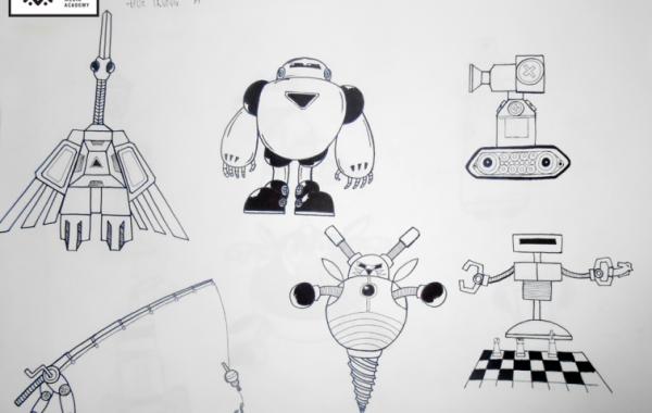 Bài học vẽ Basic Sketch – Vẽ Robot