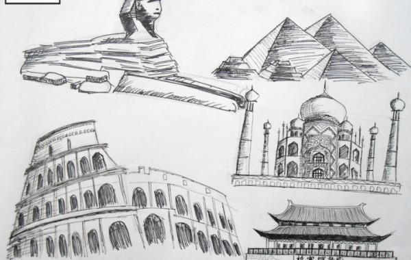 Buổi học vẽ kiến trúc truyện tranh