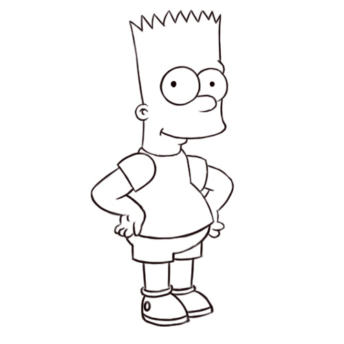 how-to-draw-bart-simpson7