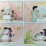 tác phẩm truyện tranh 4 trang của bé