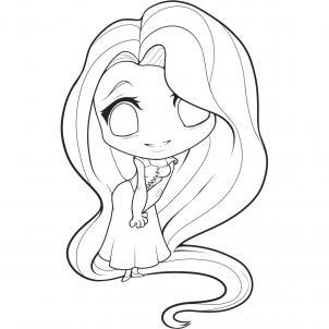 6 - bước - vẽ -công - chúa  - tóc mây - chibi - cực - đáng - yêu (8)