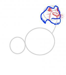 8 - bước -  vẽ - Vua - sư - tử - Mufasa - dũng - mãnh (4)