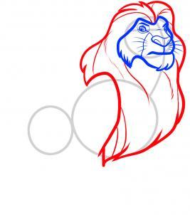 8 - bước -  vẽ - Vua - sư - tử - Mufasa - dũng - mãnh (5)
