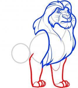 8 - bước -  vẽ - Vua - sư - tử - Mufasa - dũng - mãnh (6)