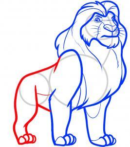 8 - bước -  vẽ - Vua - sư - tử - Mufasa - dũng - mãnh (7)