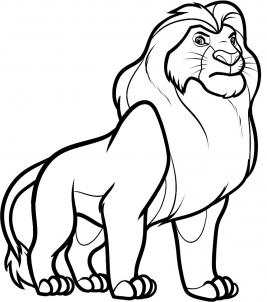 8 - bước -  vẽ - Vua - sư - tử - Mufasa - dũng - mãnh (9)