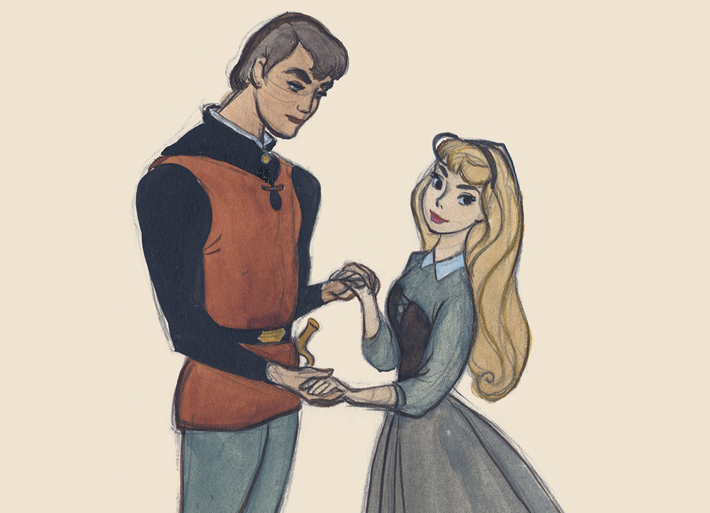 Prince-Phillip-and-Aurora-Concept-Art-from-Sleeping-Beauty