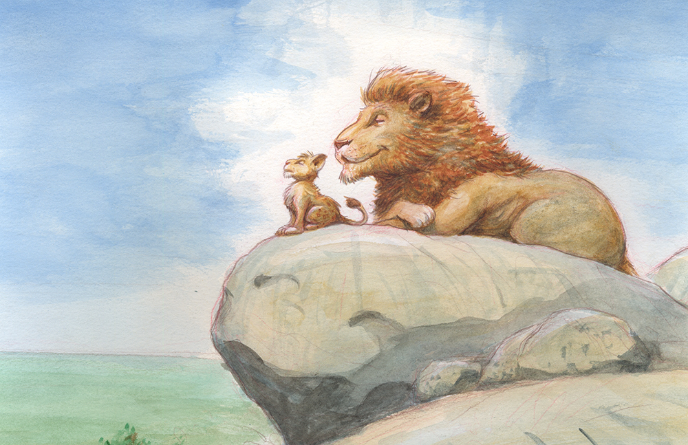 Simba-and-Mufasa-Concept-Art-from-The-Lion-King