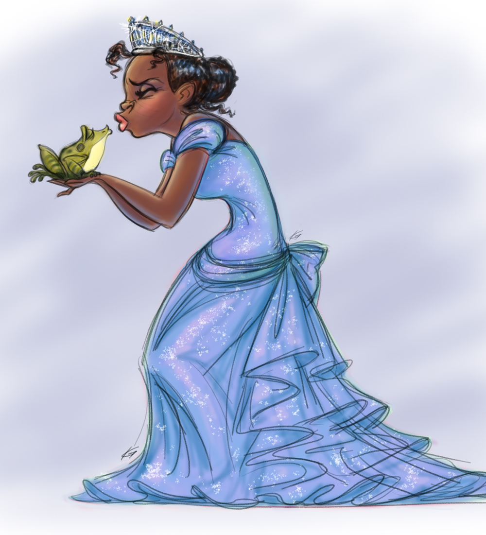 Tiana-and-Naveen-Concept-Art-from-The-Princess-and-the-Frog