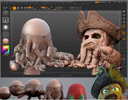 Top 20 phần mềm chuyên dụng dành cho các họa sĩ và nhà thiết kế chuyên nghiệp ZBrush
