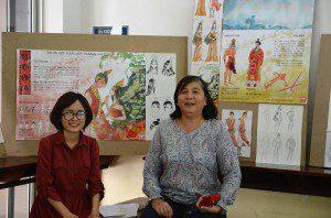 Tác giả Hồng Hạnh và cô Viện trưởng Mỹ Hạnh