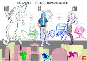 Đồ án Human Sketch - Lê Hoàng Gia - 2