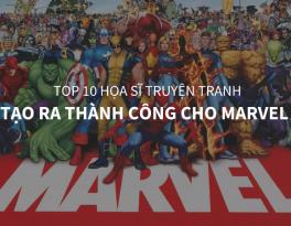 top 10 họa sĩ truyện tranh marvel