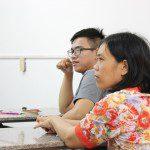 Học viên CMA tập trung lắng nghe chia sẻ của đạo diễn Đinh Thái Thụy