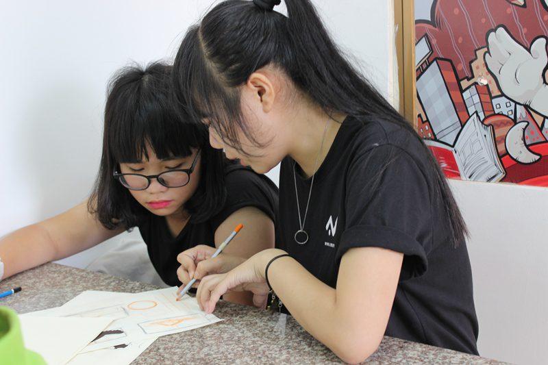 lớp dạy vẽ thiếu nhi