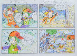 Tác phẩm truyện tranh 4 khung của Lê Thúc Tường