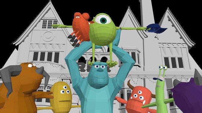 phim hoạt hình ba chiều Monster Inc Pixar