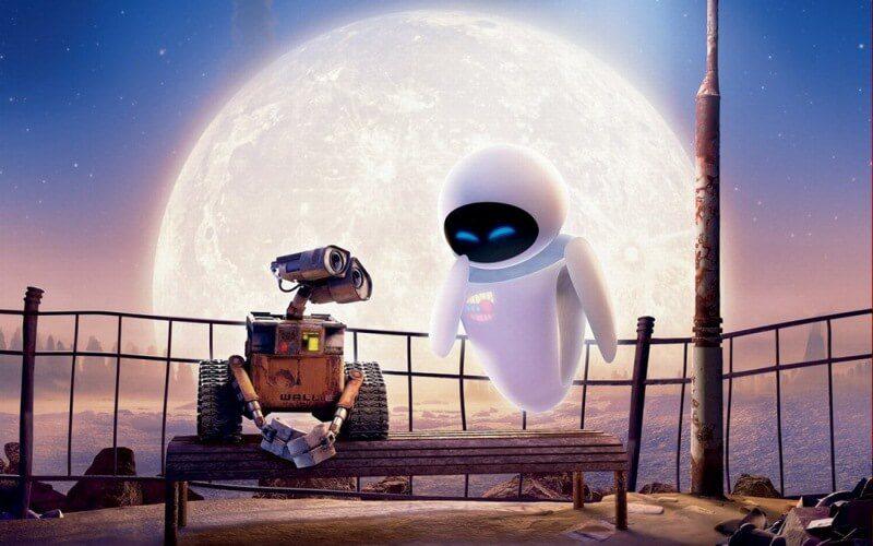 phim hoạt hình Pixar tình yêu Wall E