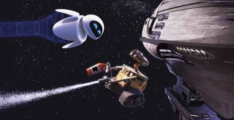 tình bạn trong phim hoạt hình Wall-E Pixar
