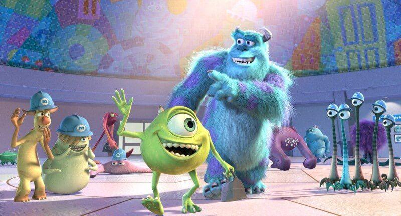 tình bạn trong phim hoạt hình Monster Inc Pixar