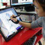 hậu trường hoạt hình học viên CMA thực hành trên máy