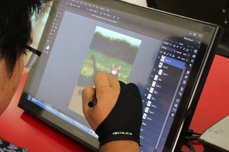 hậu trường hoạt hình học viên cma thực hành trên máy 2