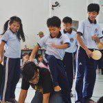 học viên Viện Truyện tranh và Hoạt hình tại trường khuyết tật Nhân Ái 3
