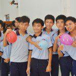 học viên Viện Truyện tranh và Hoạt hình tại trường khuyết tật Nhân Ái 4