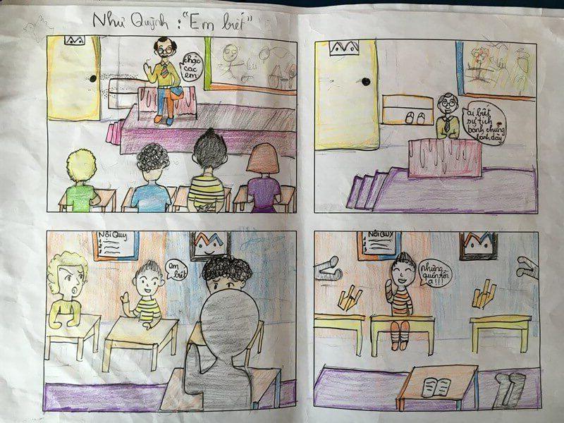 lớp học vẽ truyện tranh Đỗ Như Quỳnh