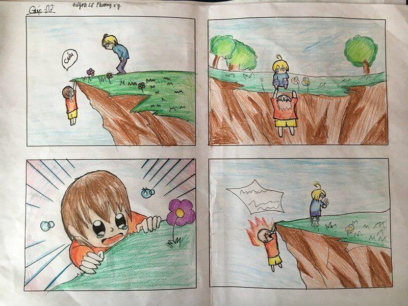 lớp học vẽ truyện tranh Huỳnh Lê Phương Vy