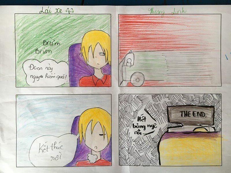 lớp học vẽ truyện tranh Lê Hương Linh