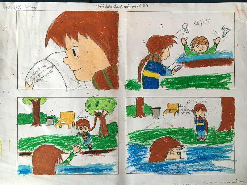 lớp học vẽ truyện tranh Lưu Hiếu Khang