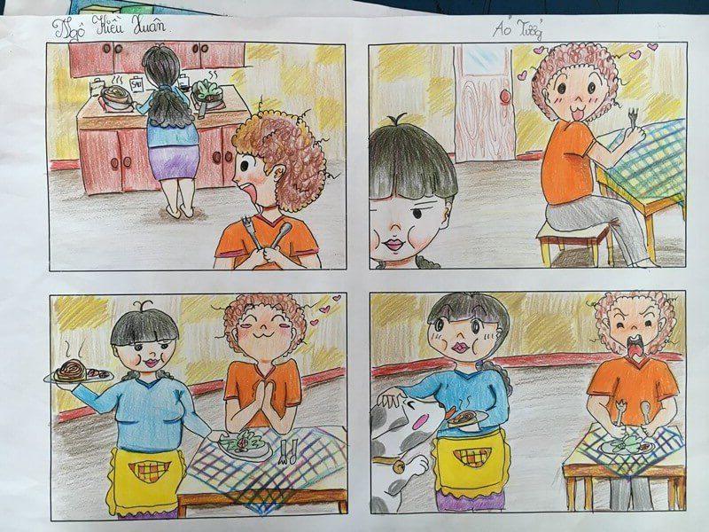lớp học vẽ truyện tranh Ngô Kiều Xuân