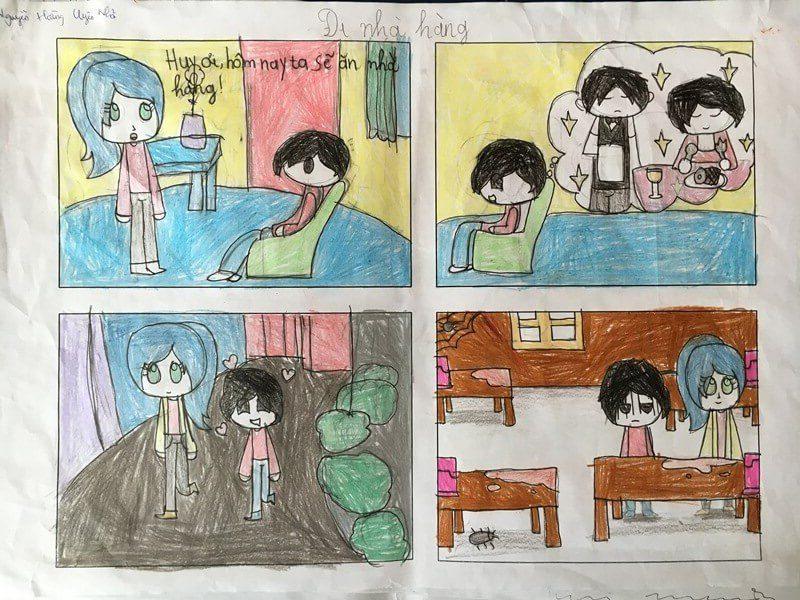 lớp học vẽ truyện tranh Nguyễn Hoàng Uyên Nhã