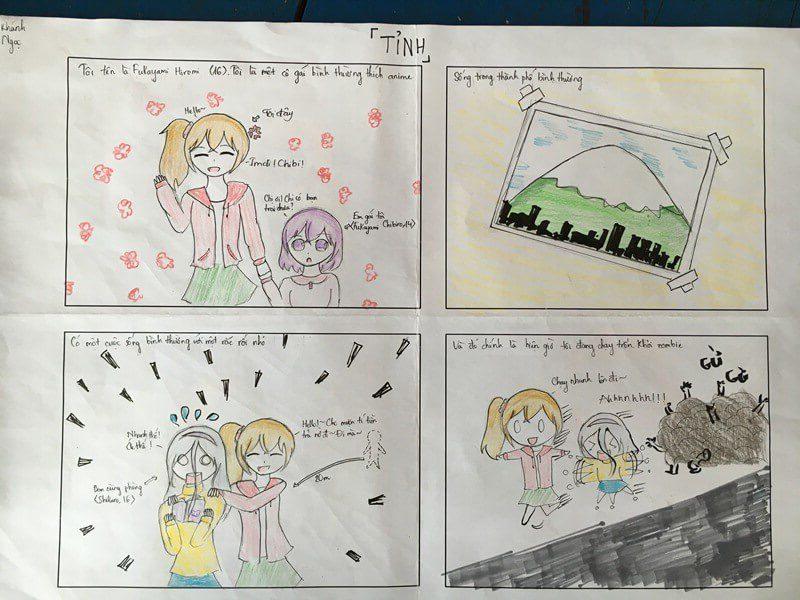 lớp học vẽ truyện tranh Trần Cao Khánh Ngọc
