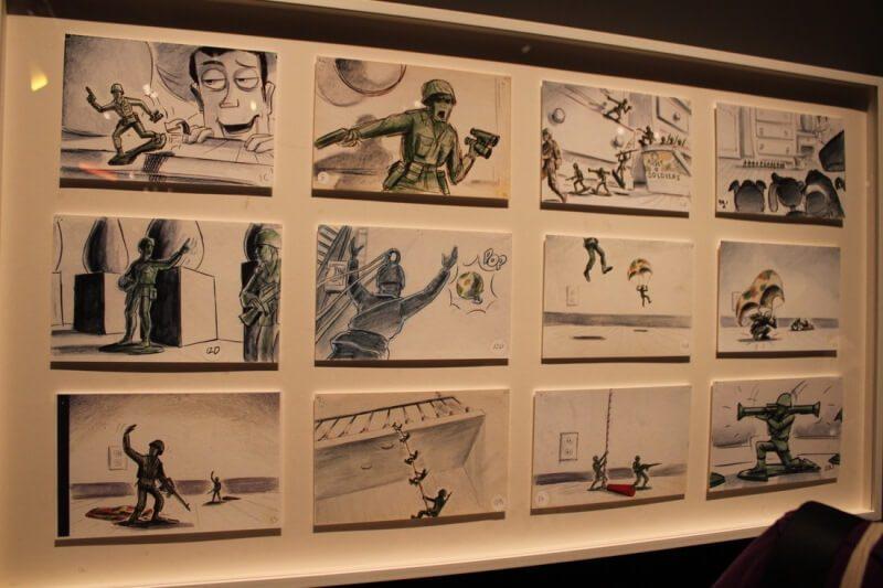 storyboard trong làm phim hoạt hình của Pixar