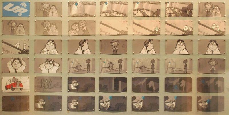 storyboard phim hoạt hình Up 2