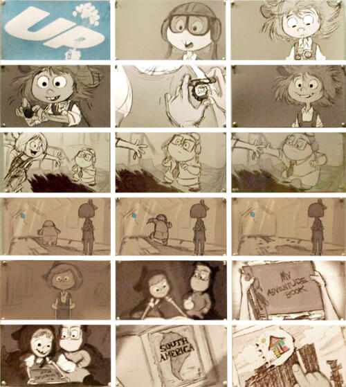storyboard phim hoạt hình Up 3