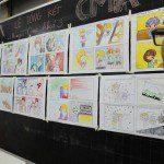 triển lãm cuối khóa lớp học vẽ truyện tranh cho bé 2