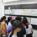 triển lãm cuối khóa lớp học vẽ truyện tranh cho bé 4