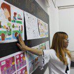 triển lãm cuối khóa lớp học vẽ truyện tranh cho bé 5