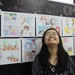 triển lãm cuối khóa lớp học vẽ truyện tranh cho bé