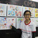 triển lãm cuối khóa lớp học vẽ truyện tranh cho bé 3