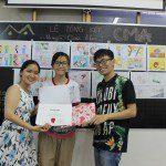 triển lãm cuối khóa lớp học vẽ truyện tranh cho bé ở TPHCM 7