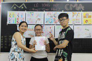 triển lãm cuối khóa lớp học vẽ truyện tranh cho bé ở TPHCM 8