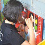 vẽ tranh trên tường học viên Viện Truyện tranh và Hoạt hình 4