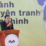 họa sĩ Trang Đức Huy chia sẻ tại lễ khai giảng Viện Truyện tranh và Hoạt hình 1