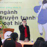 Họa sĩ Nguyễn Bạch Dương chia sẻ tại lễ khai giảng Viện Truyện tranh và Hoạt hình