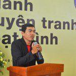 họa sĩ Trang Đức Huy chia sẻ tại lễ khai giảng Viện Truyện tranh và Hoạt hình