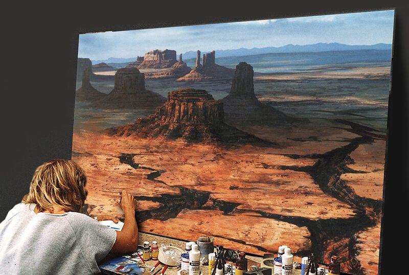 họa sĩ vẽ bối cảnh